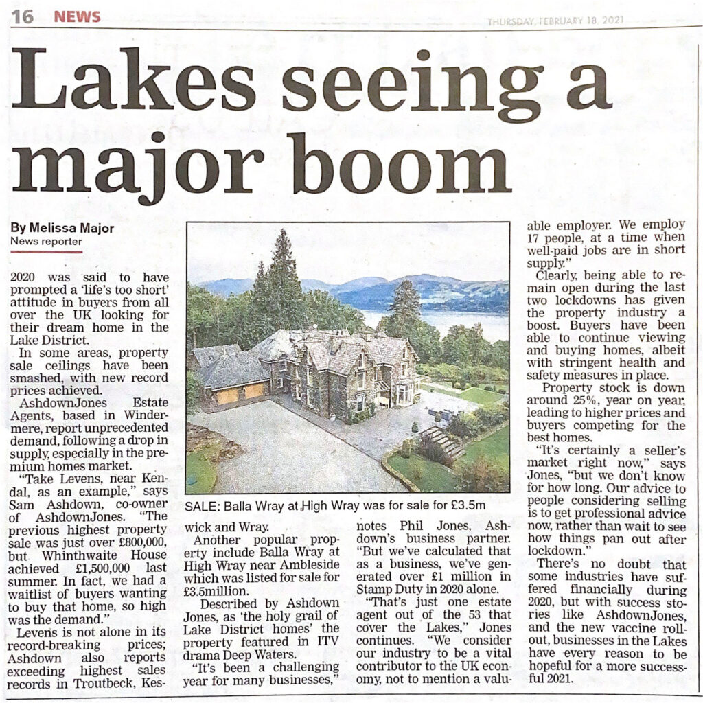 Newspaper article of Balla Wray by Melissa Major
