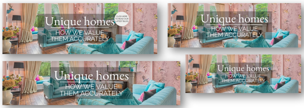 A selection of Unique Homes - how we value them accurately blog graphics