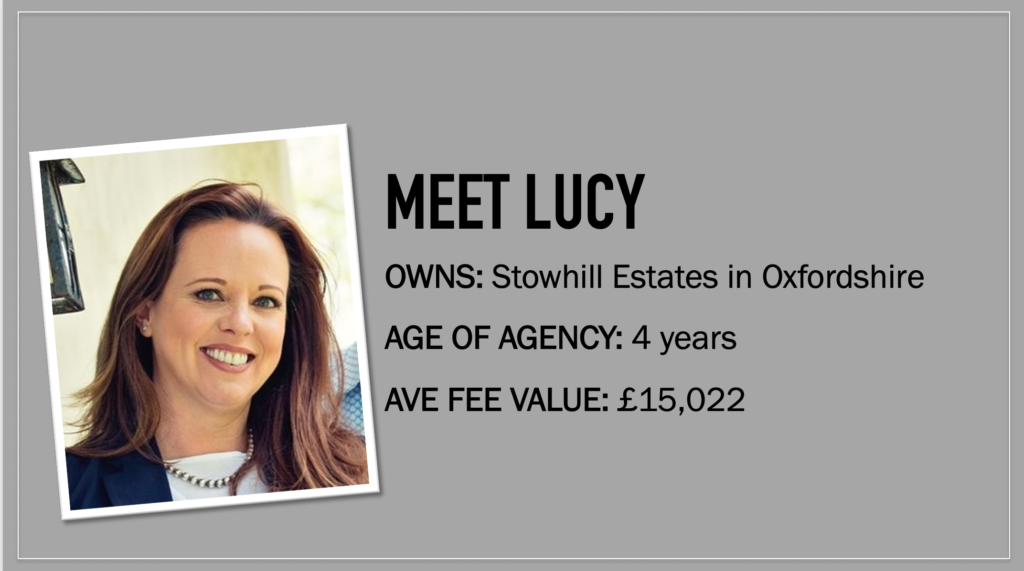 Meet Lucy Joerin headshot and description, owner of Stowhill estates, her average fee value is £15,022